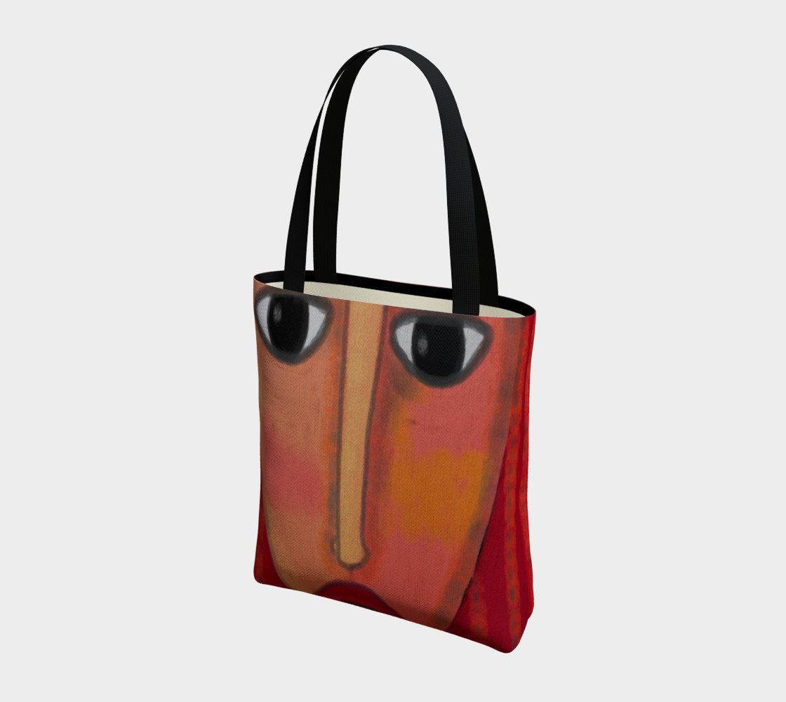 Big Red Lips Abstract Art Shoulder Bag preview #3