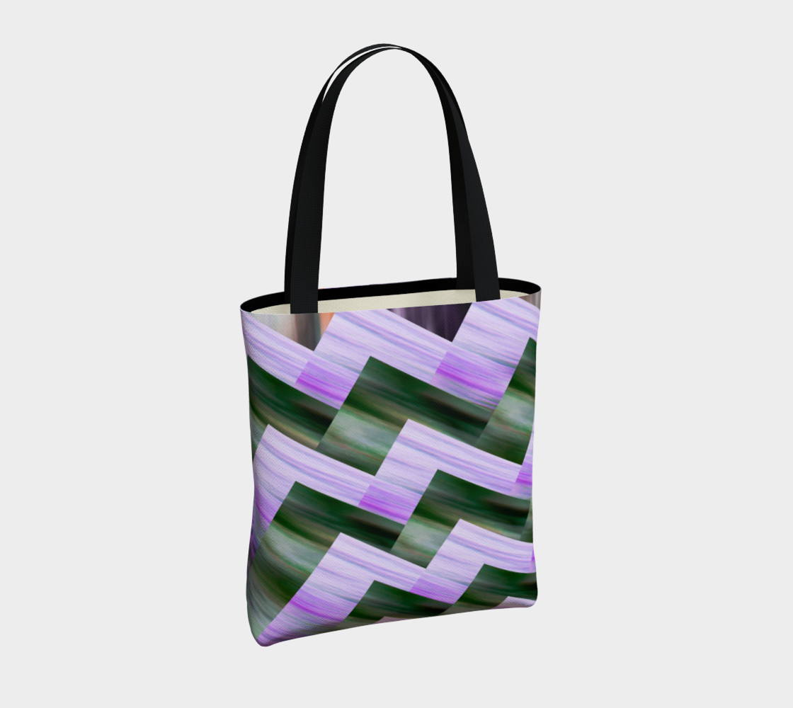 Green and violet zigzag preview #4