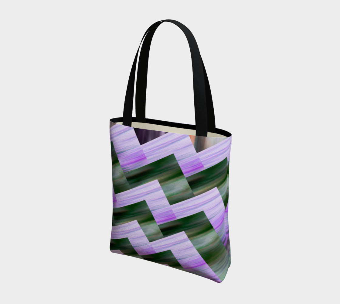 Green and violet zigzag preview #3