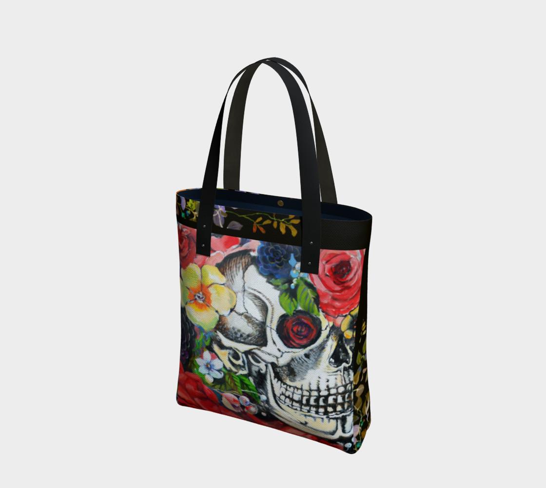 Aperçu de Memento Skull Tote Bag #1