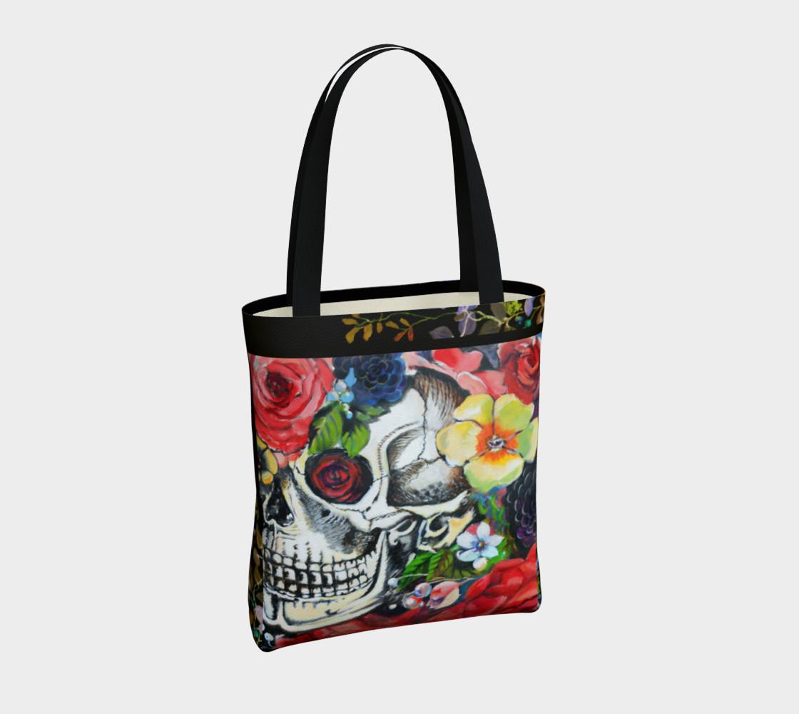 Aperçu de Memento Skull Tote Bag #4