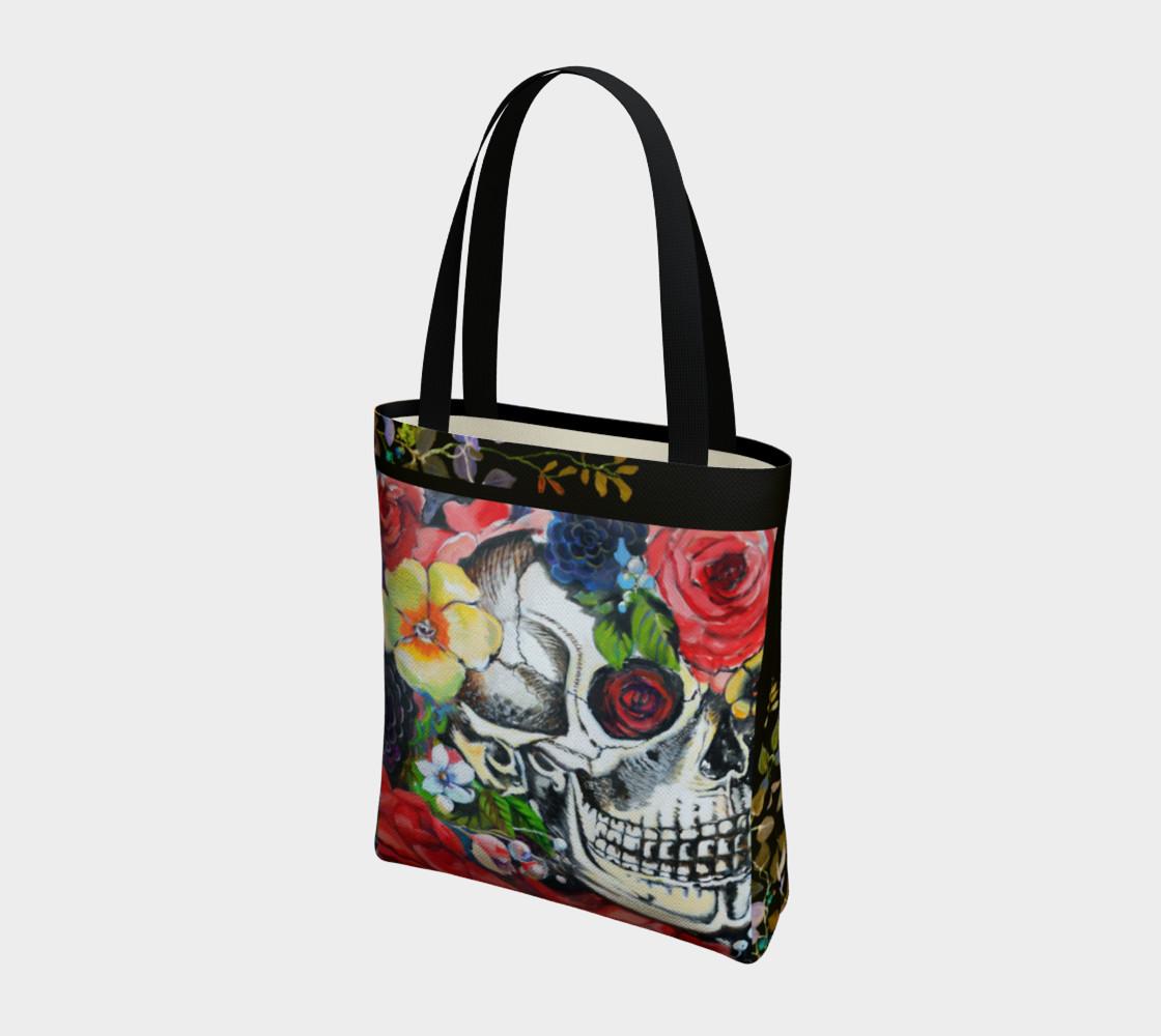 Aperçu de Memento Skull Tote Bag #3