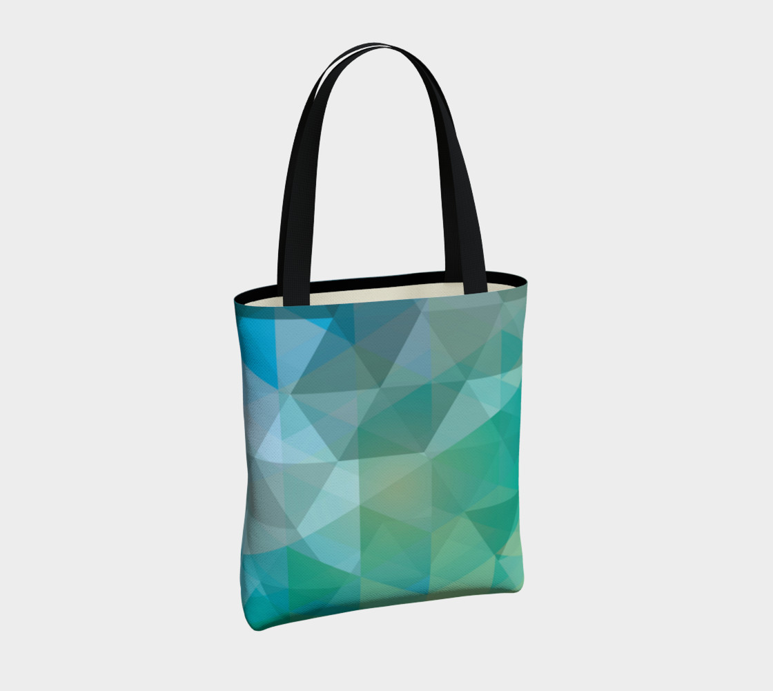 Aqua, Teal Abstract, Geometric, Unique, Triangle, polygon preview #4