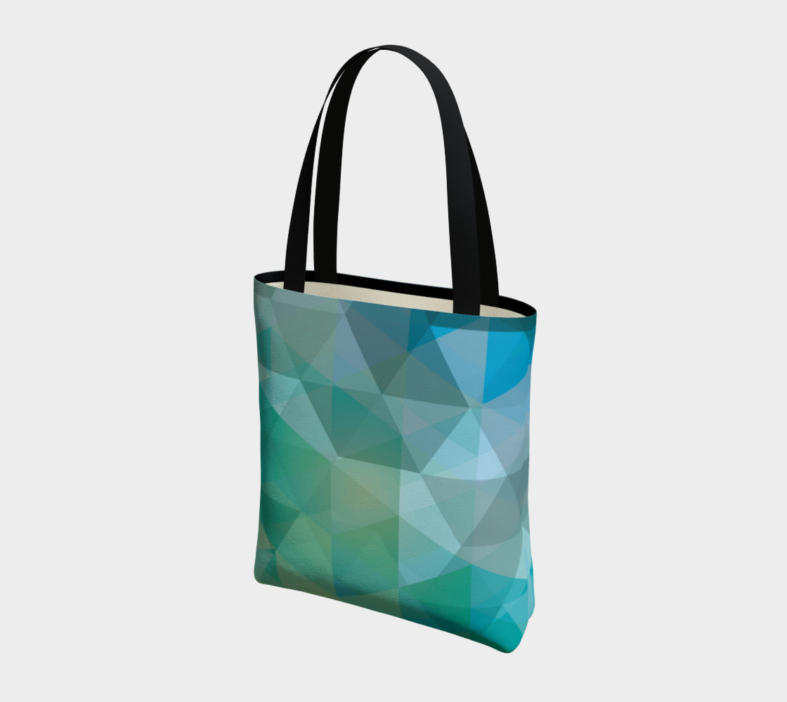 Aqua, Teal Abstract, Geometric, Unique, Triangle, polygon preview #3