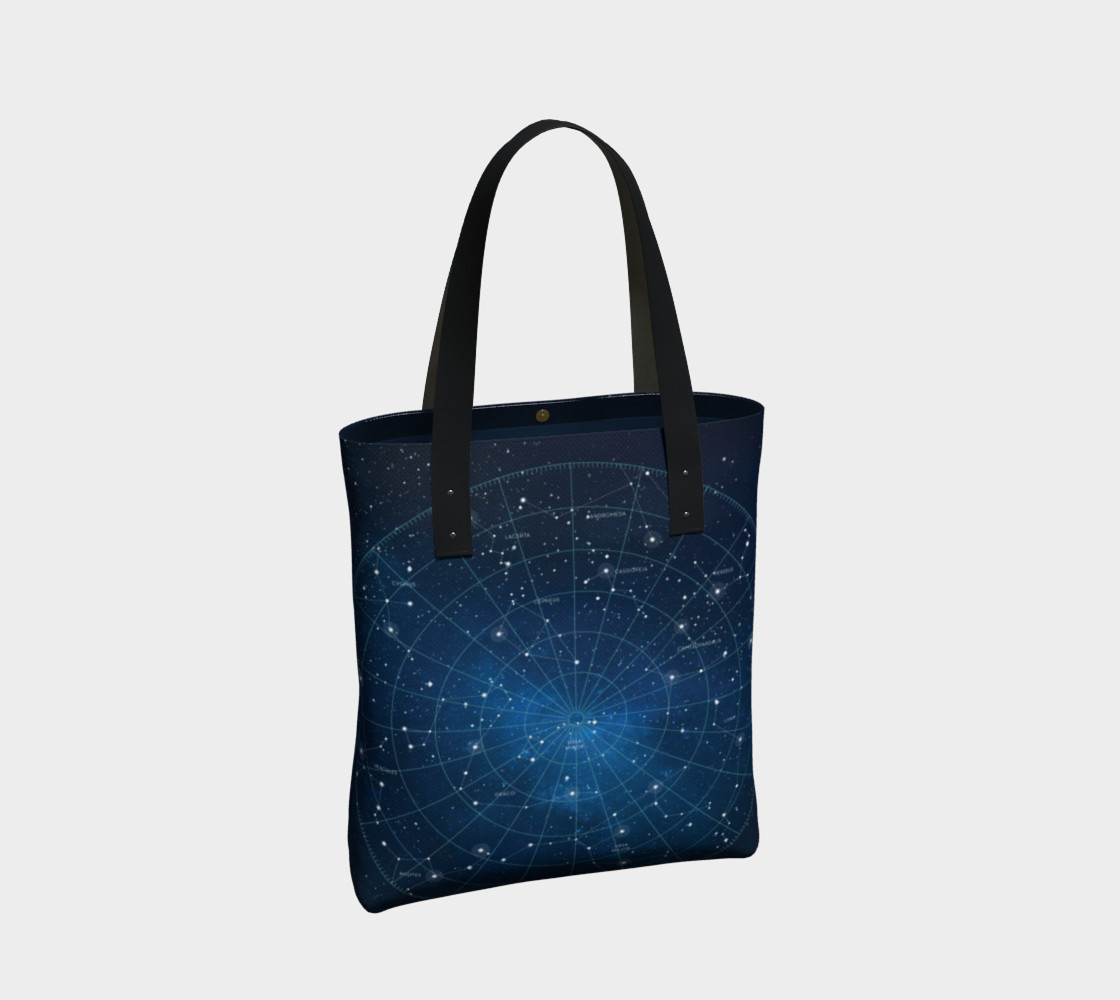 Constellation Star Map Tote Bag preview #2