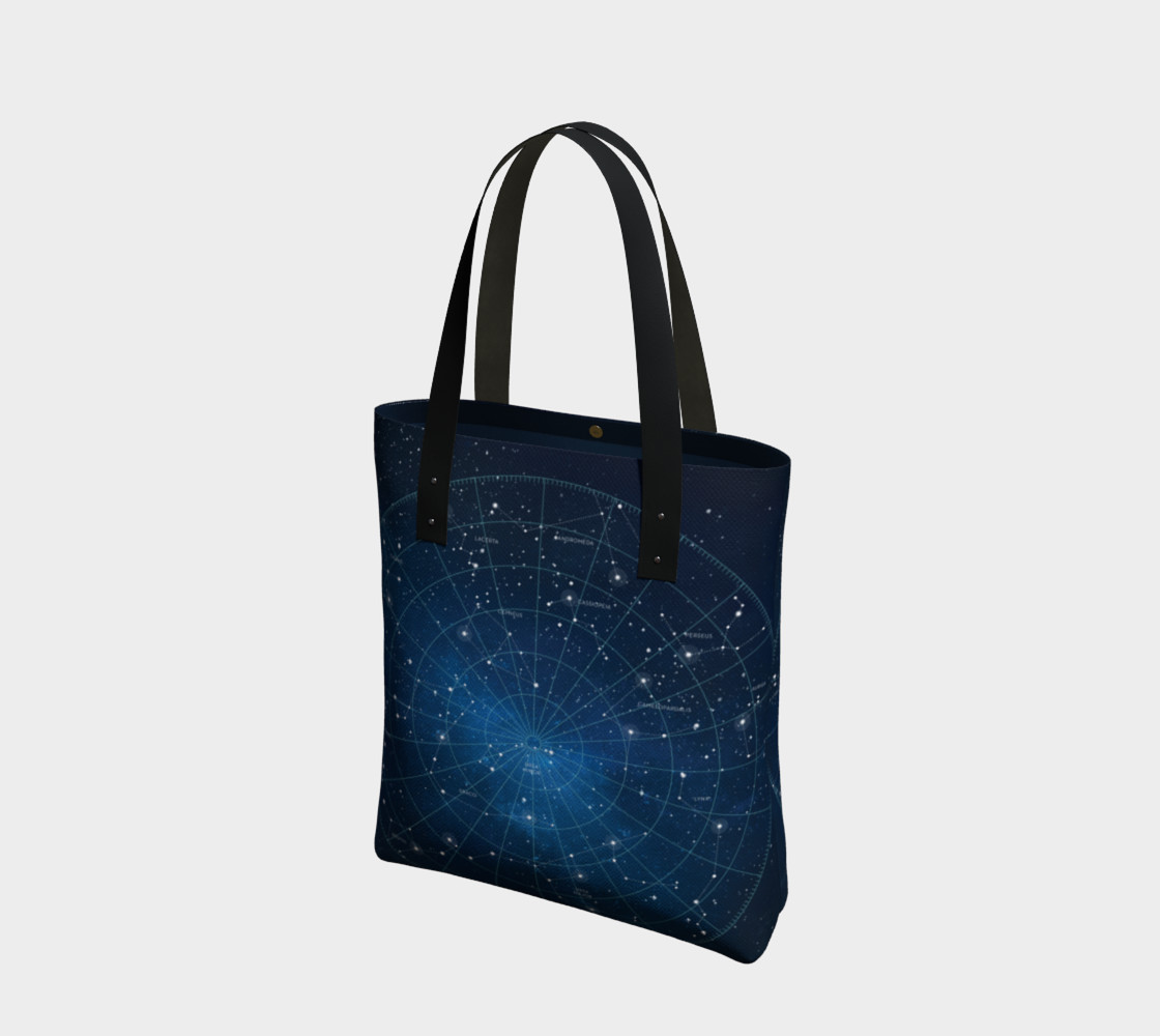 Constellation Star Map Tote Bag preview #1