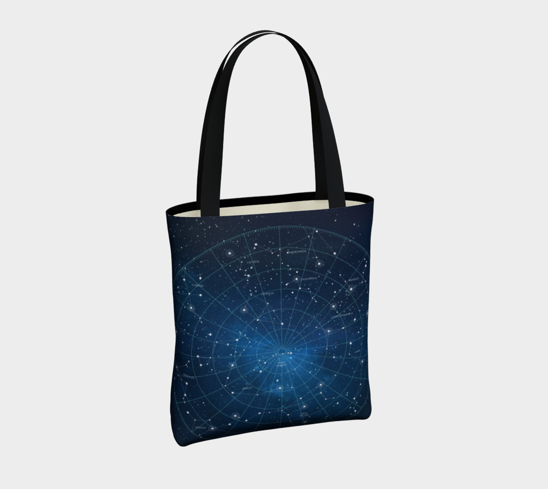 Constellation Star Map Tote Bag preview #4