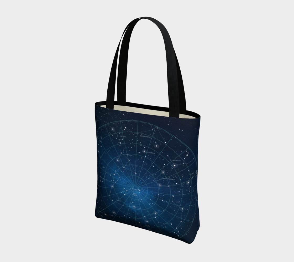 Constellation Star Map Tote Bag preview #3