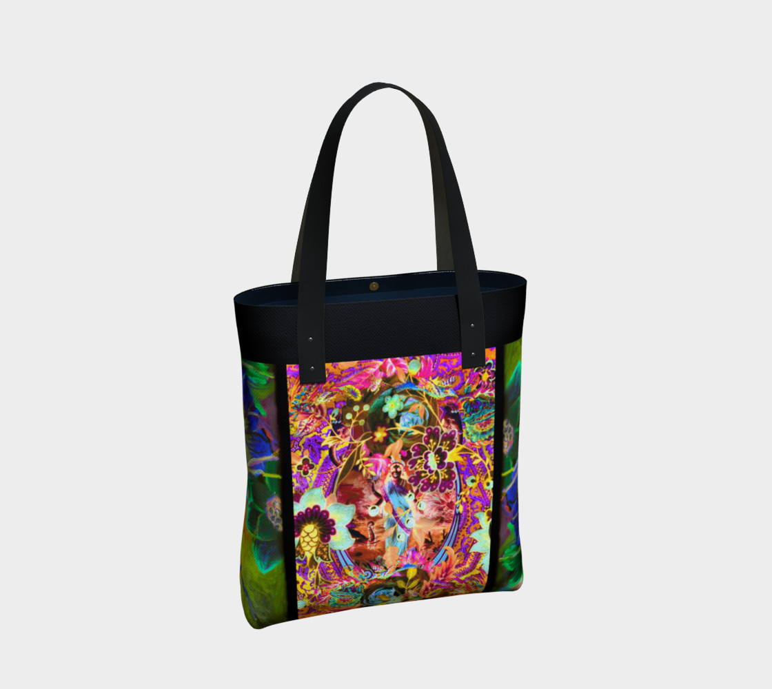 Bohemian Goddess Neon Tote Bag preview #2