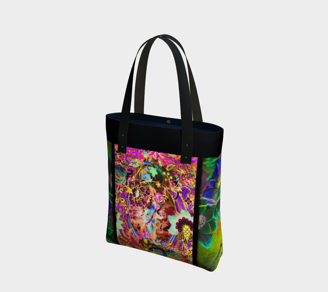 Bohemian Goddess Neon Tote Bag preview #1