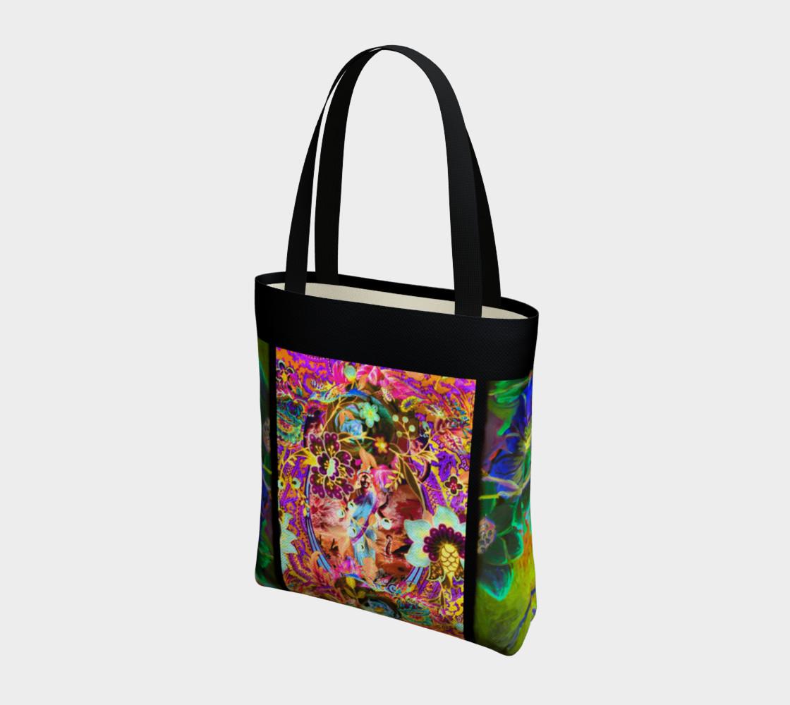 Bohemian Goddess Neon Tote Bag preview #3