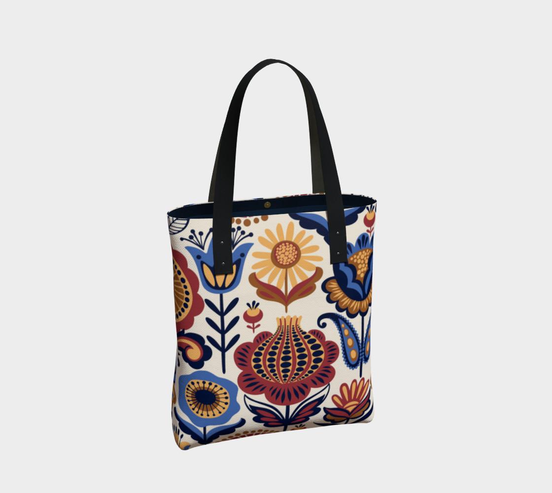 Vintage Folk Art Floral preview #2
