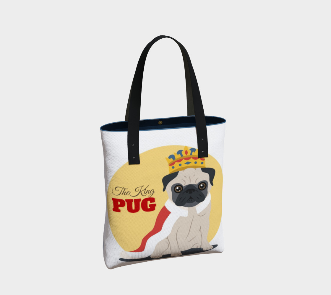 The King Pug Tote Bag preview #2