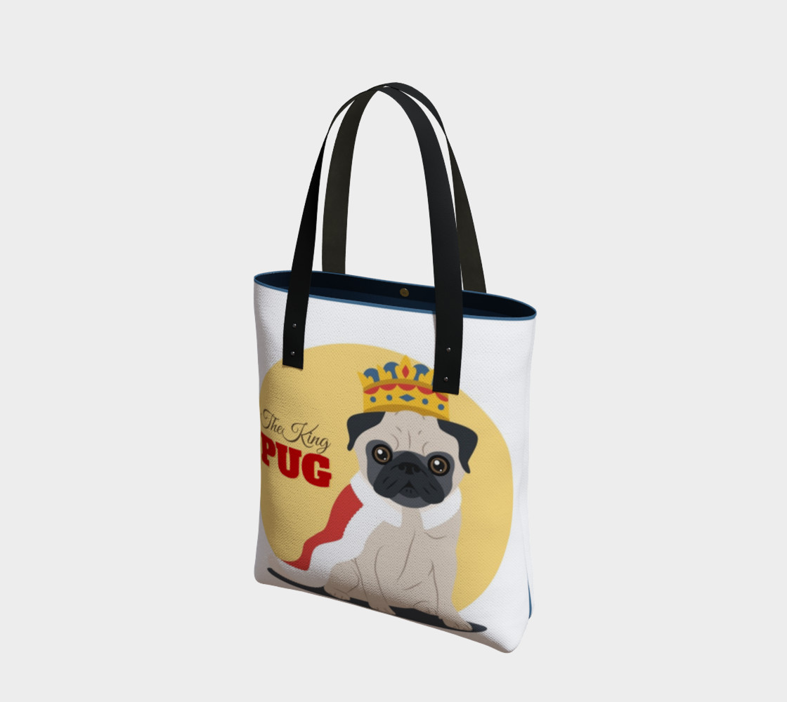 The King Pug Tote Bag preview #1