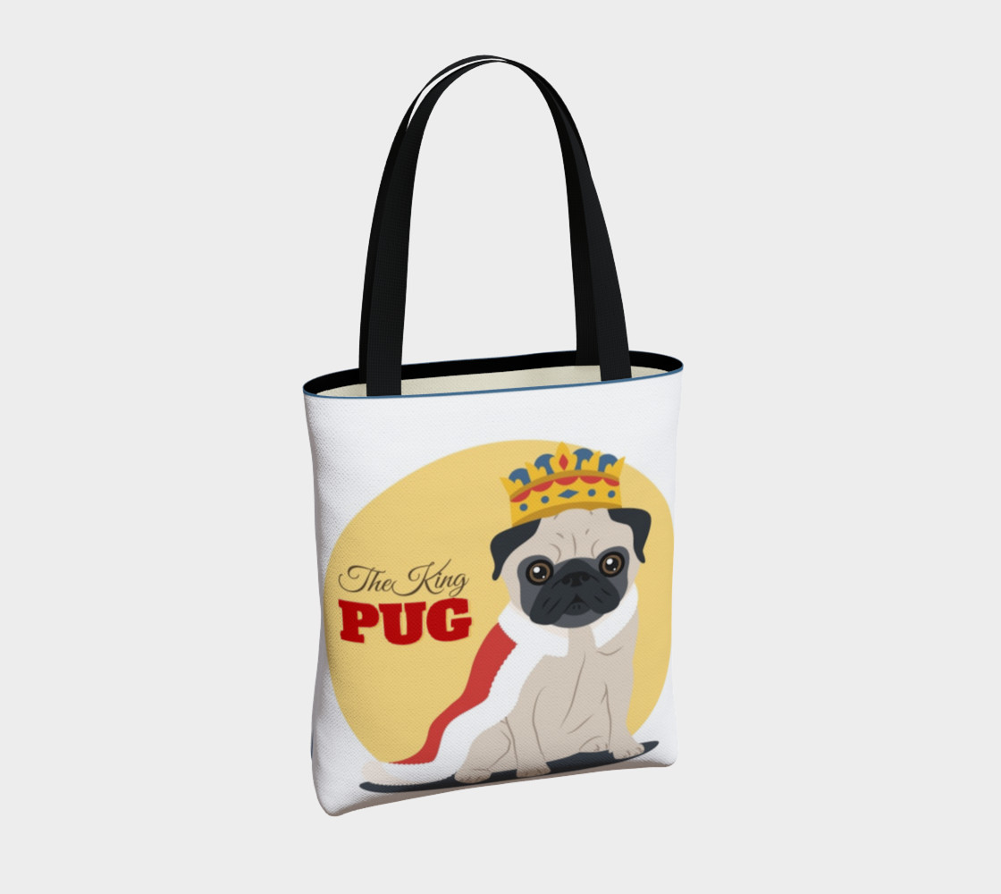 The King Pug Tote Bag preview #4