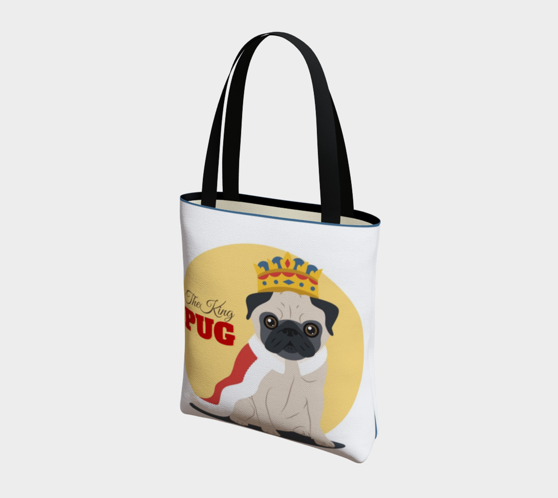 The King Pug Tote Bag preview #3