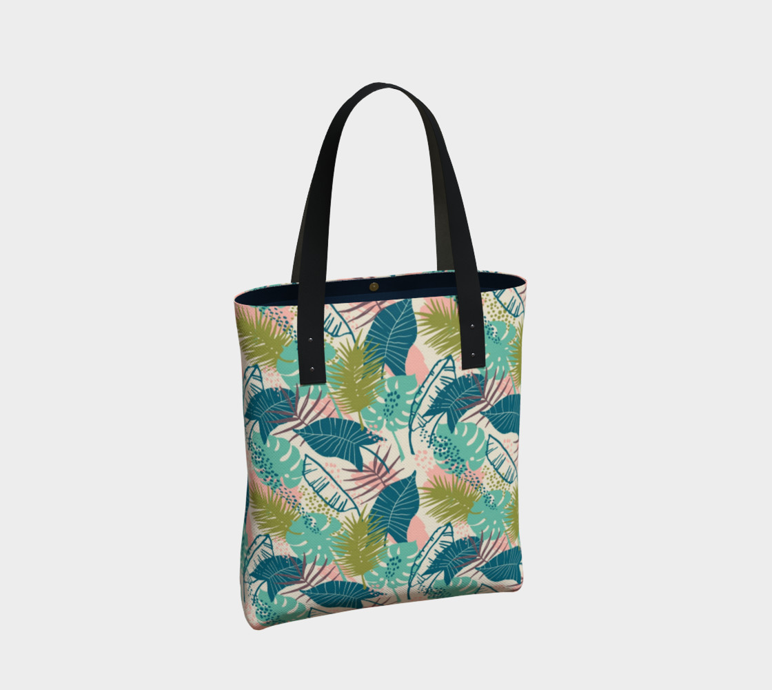 Blue and Green Tropical Leaves preview #2