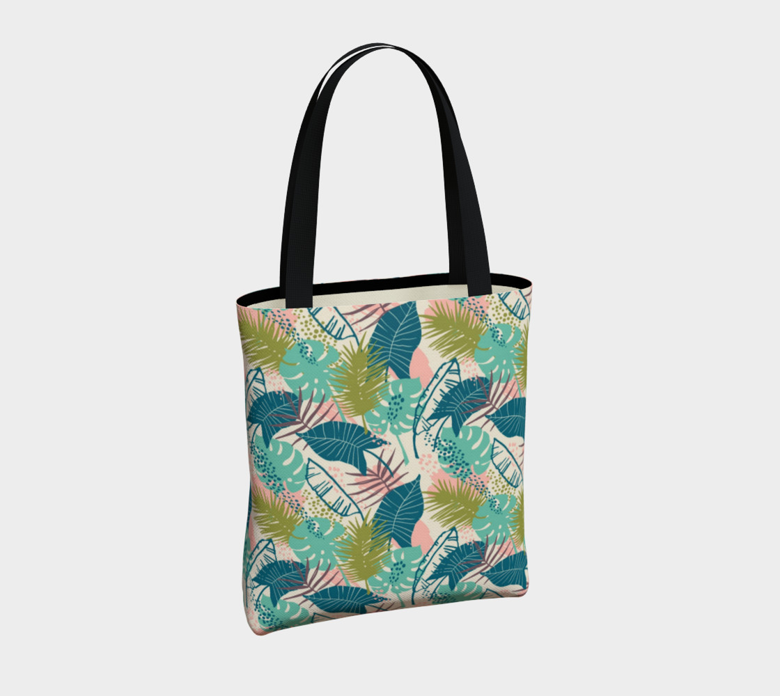 Blue and Green Tropical Leaves preview #4