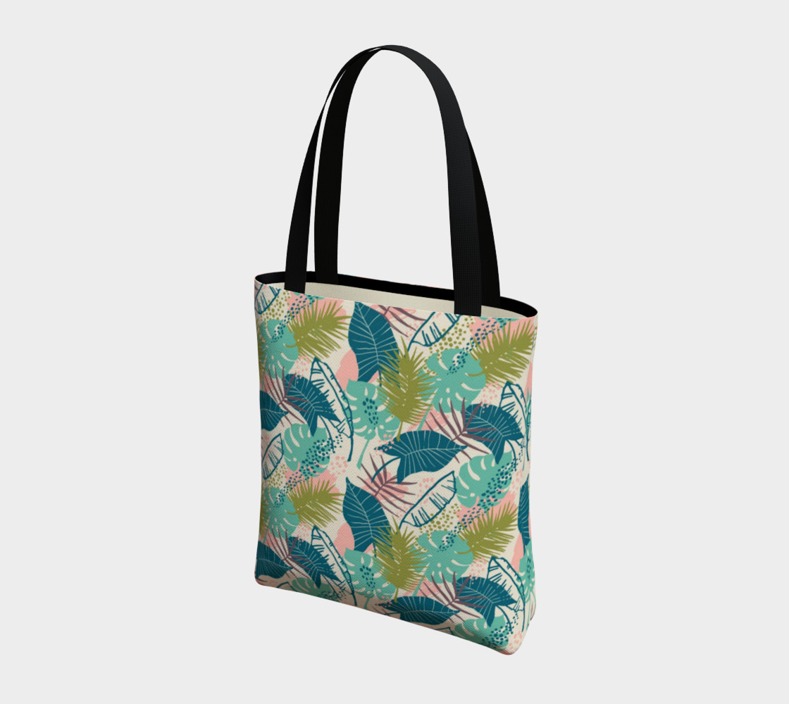 Blue and Green Tropical Leaves preview #3