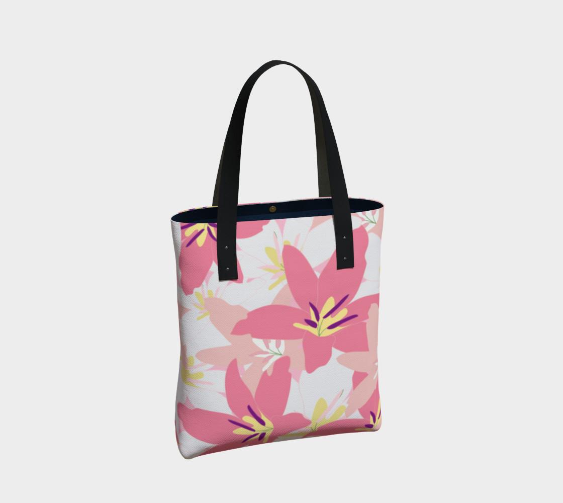 Aperçu de Pink Tropical Floral Tote bag #2
