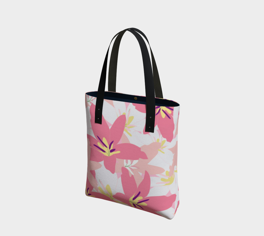Pink Tropical Floral Tote bag preview #1