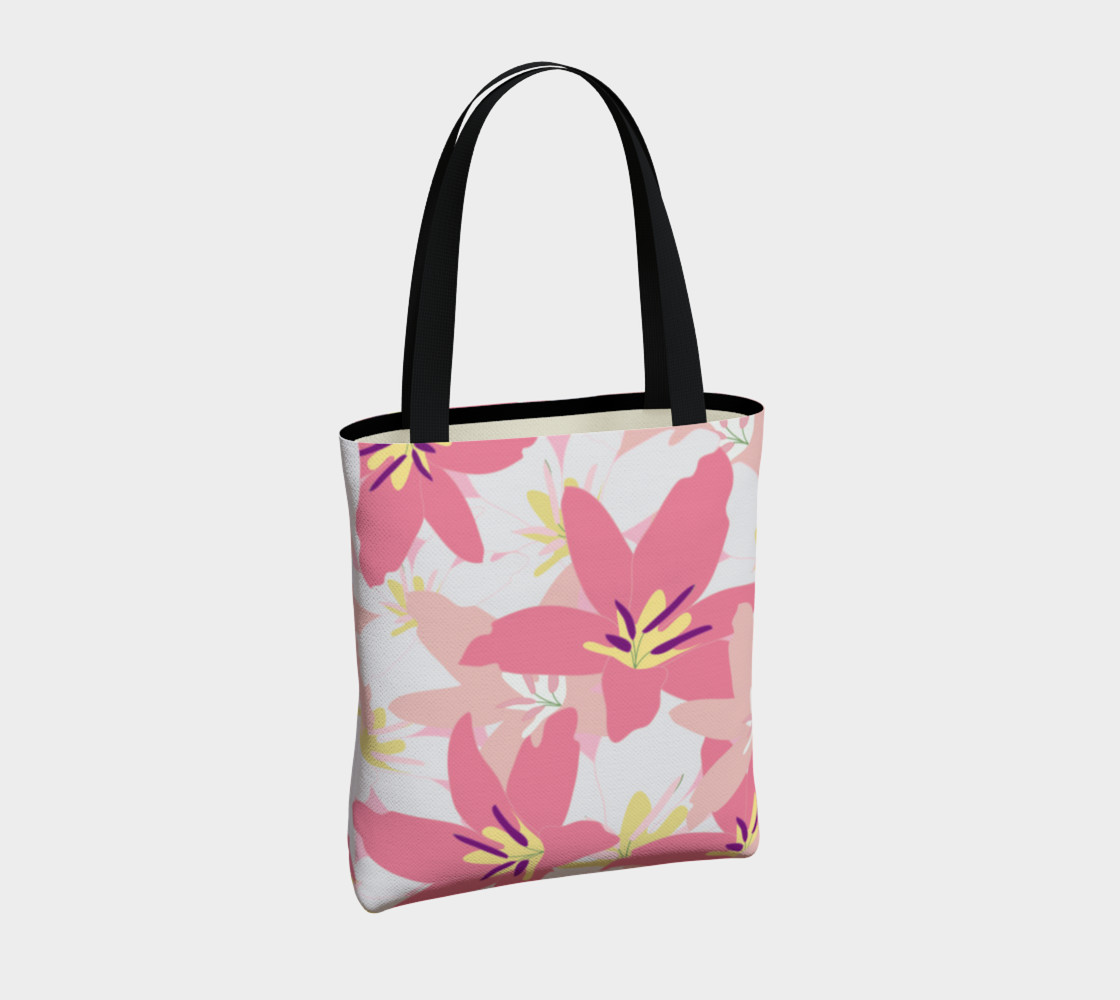 Pink Tropical Floral Tote bag preview #4