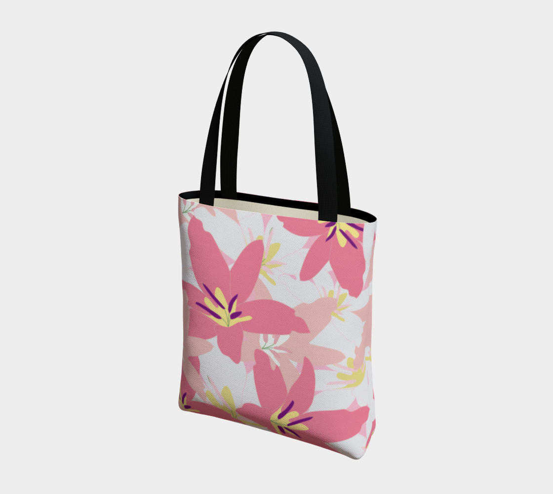 Pink Tropical Floral Tote bag preview #3