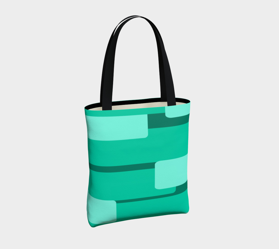 Teal Ocean Tote Bag preview #4