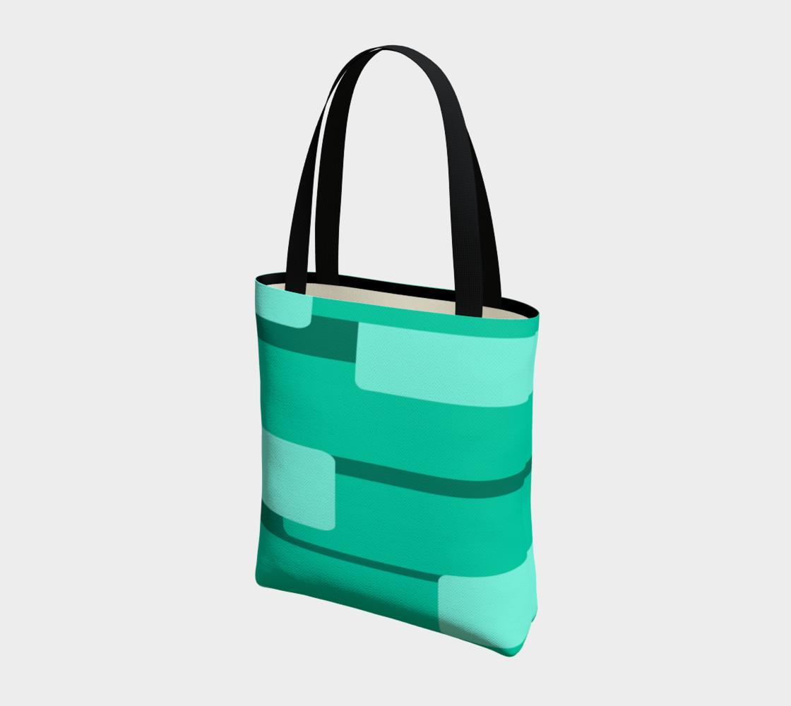 Teal Ocean Tote Bag preview #3