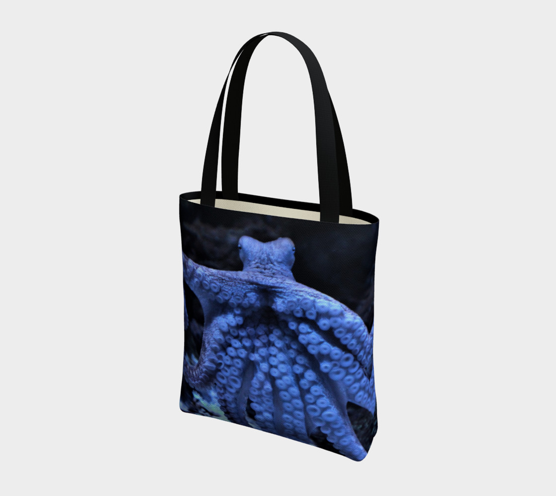 Dark Octopus Black Light Tote  preview #3