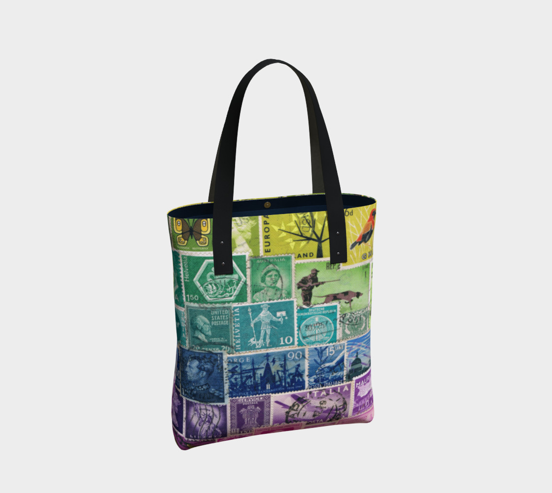 Rainbow Postage Stamp Tote preview #2