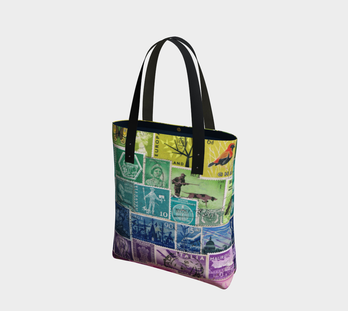 Rainbow Postage Stamp Tote preview #1