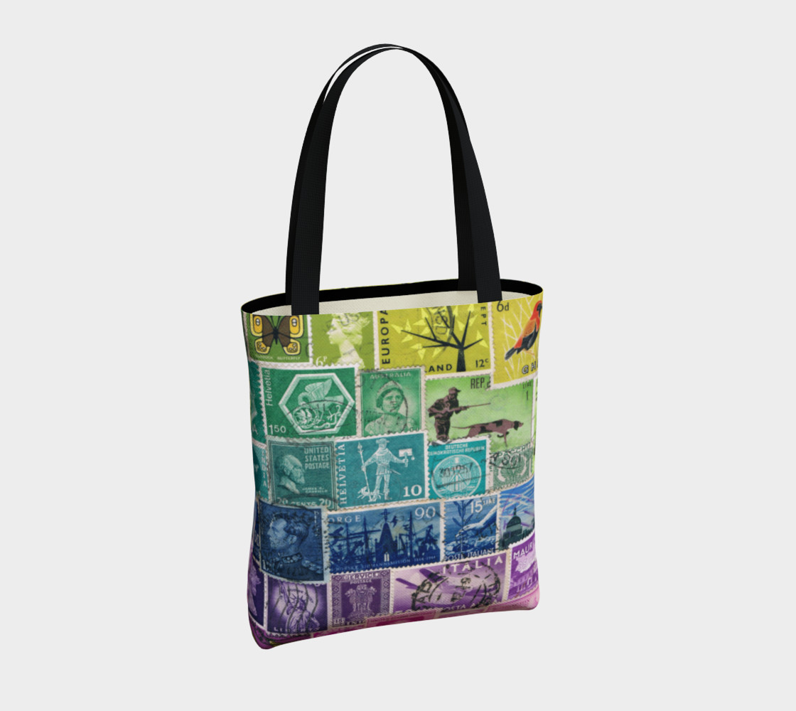 Rainbow Postage Stamp Tote preview #4