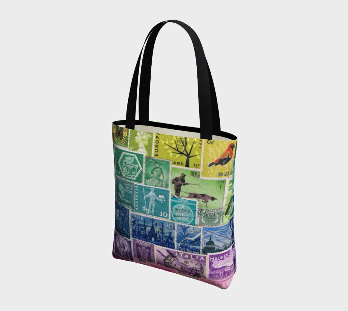 Rainbow Postage Stamp Tote preview #3
