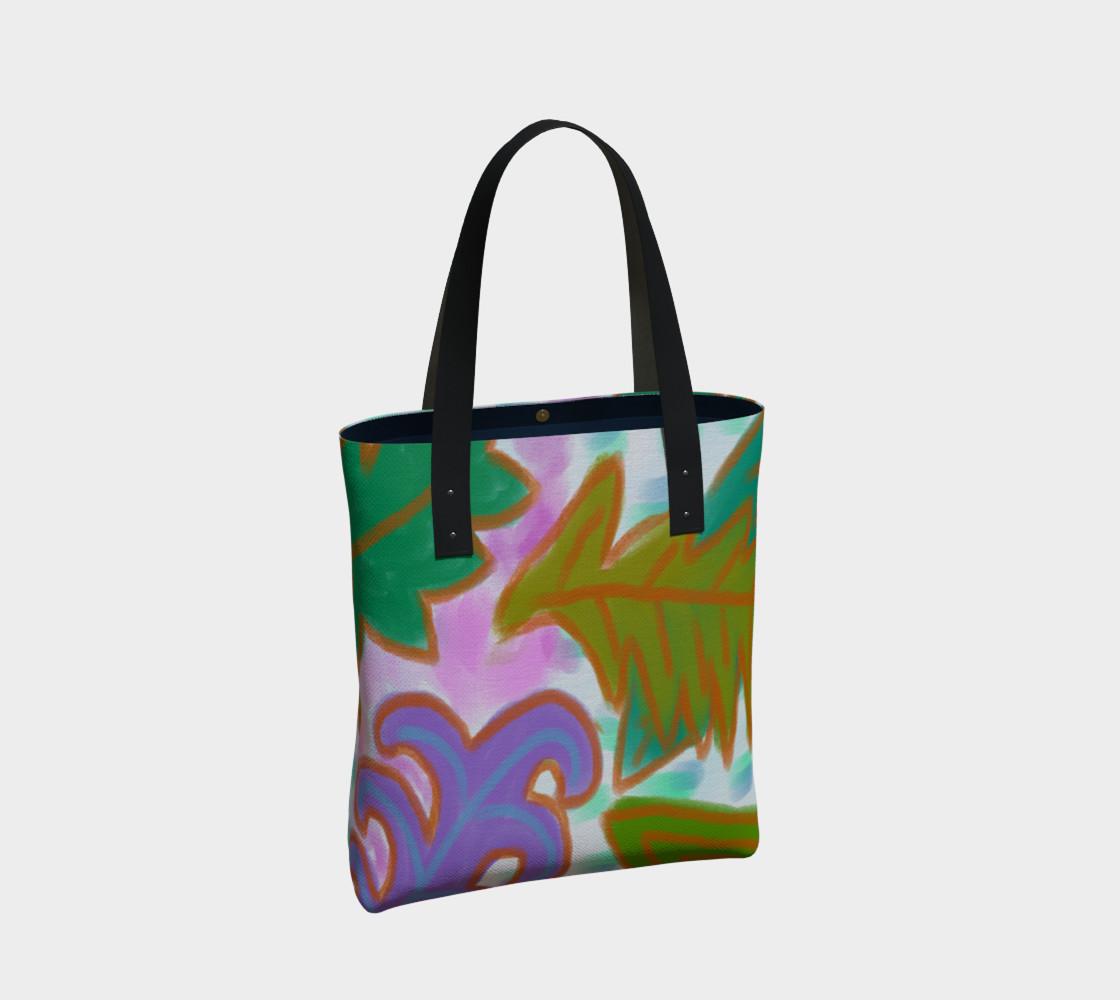 Aperçu de Leaves Abstract Art Shoulder Bag #2