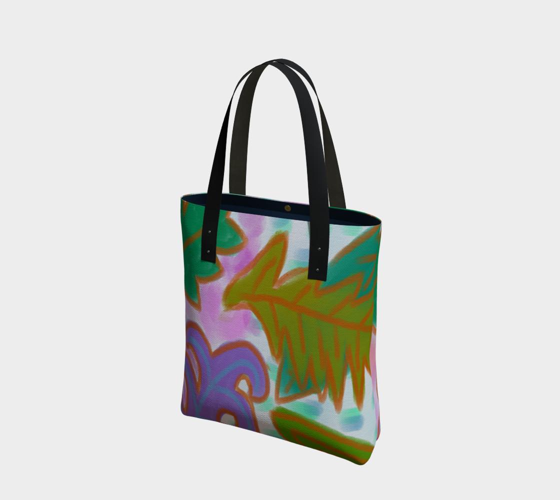 Aperçu de Leaves Abstract Art Shoulder Bag #1