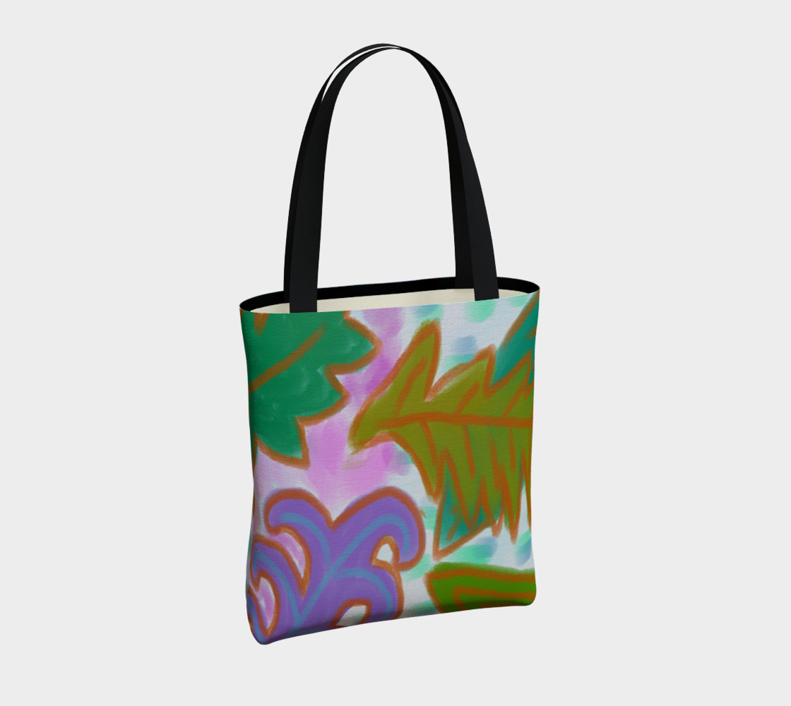 Aperçu de Leaves Abstract Art Shoulder Bag #4