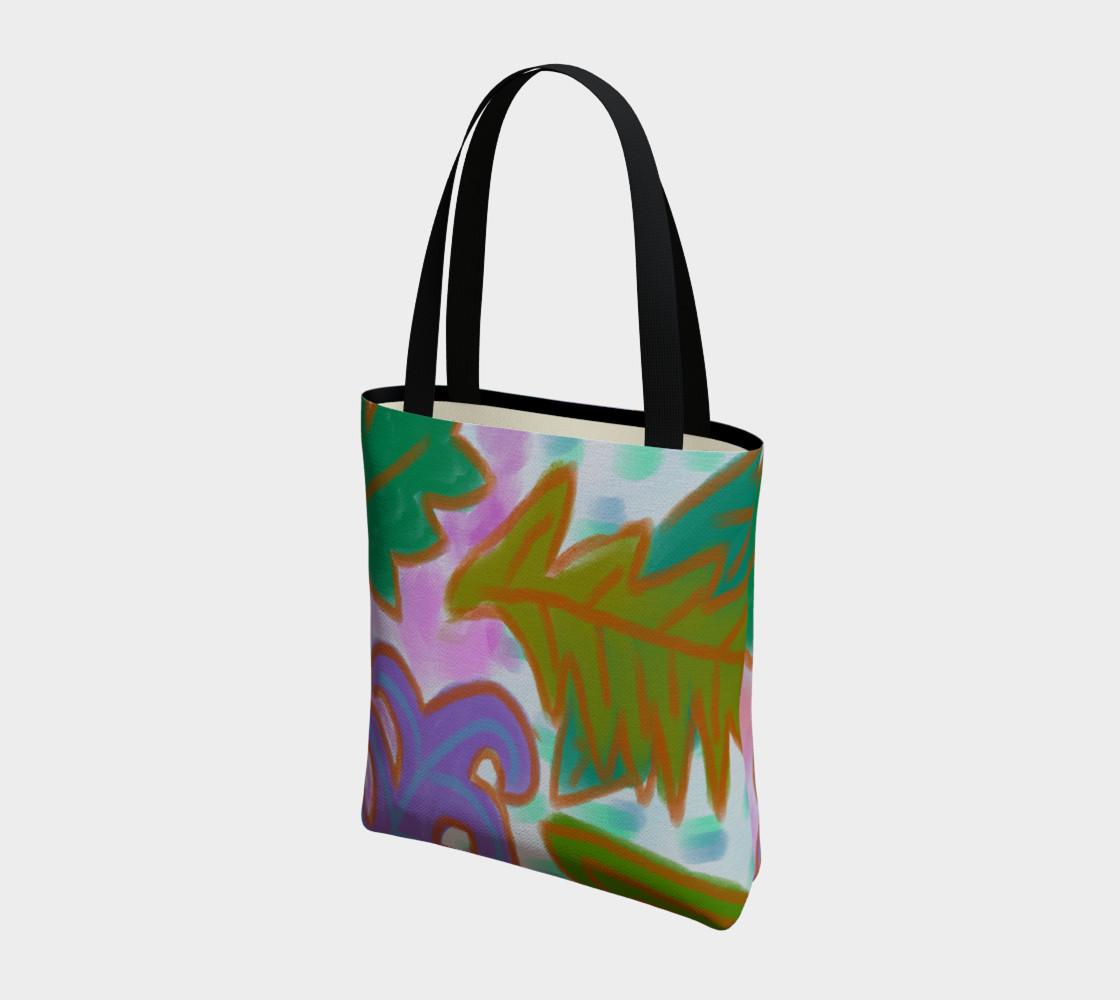 Aperçu de Leaves Abstract Art Shoulder Bag #3
