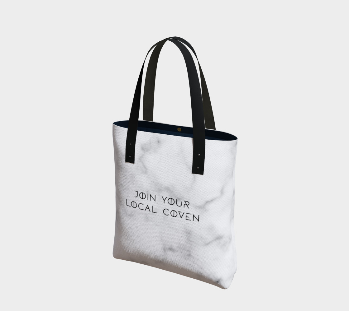 Join Your Local Coven Marble Tote preview #1