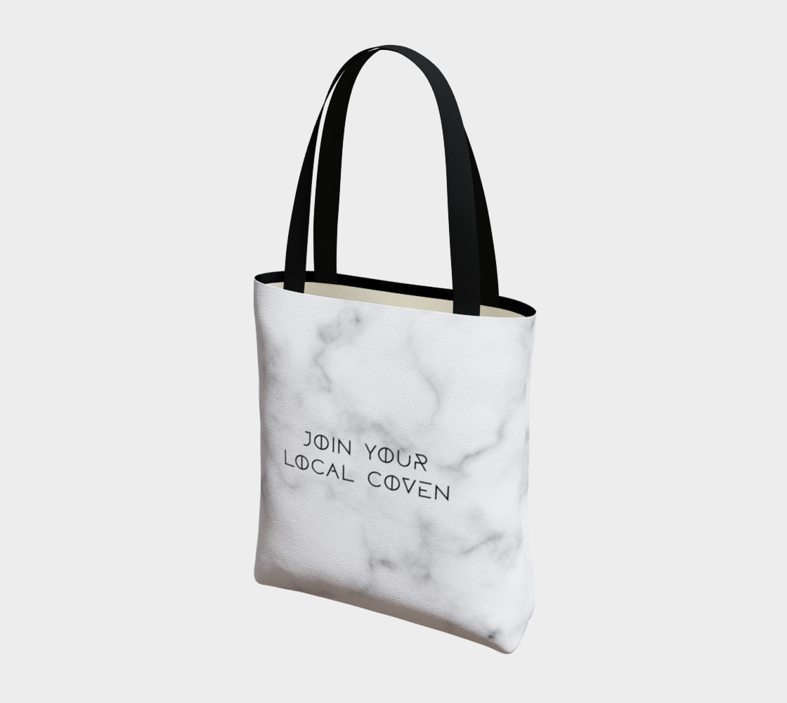Join Your Local Coven Marble Tote preview #3