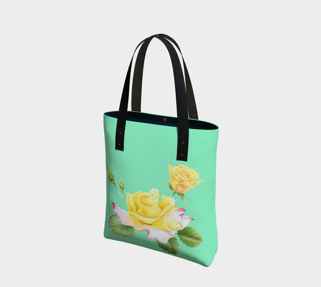 Yellow Rose Tote Bag preview #1