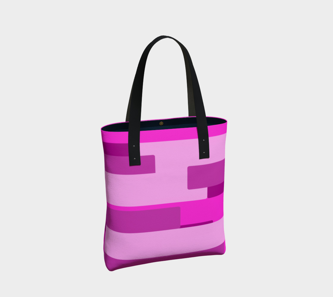 Pink Abstract Tote Bag preview #2