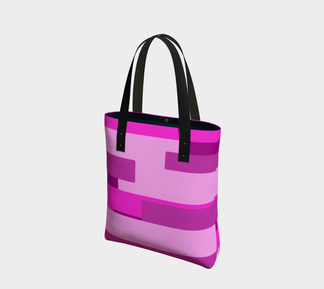 Pink Abstract Tote Bag preview #1
