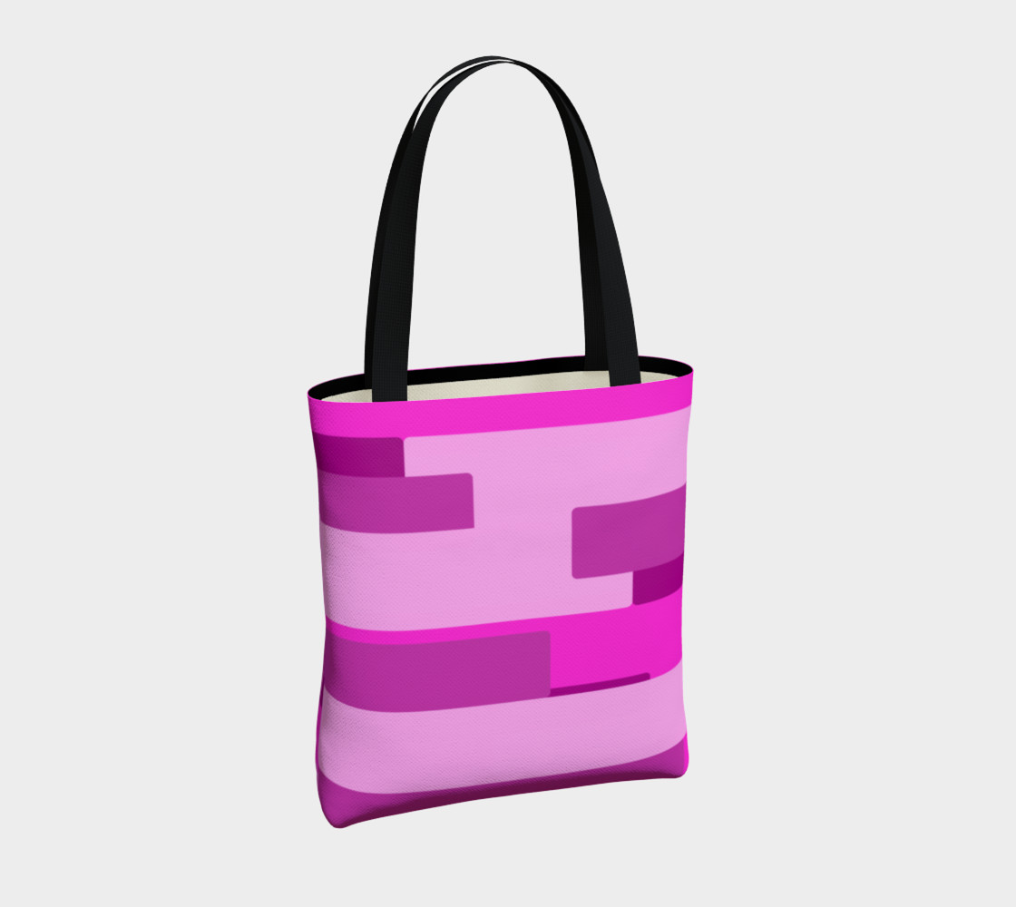 Pink Abstract Tote Bag preview #4