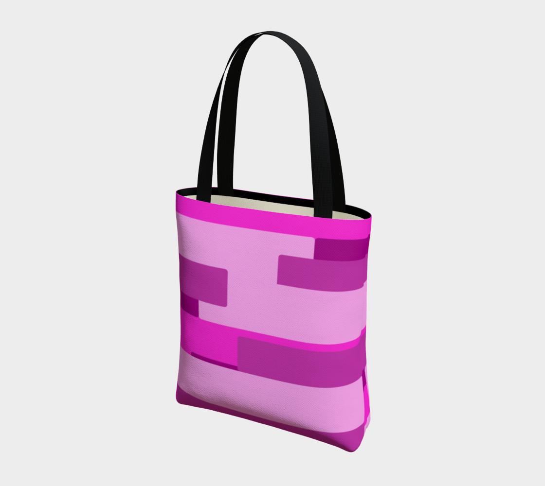 Pink Abstract Tote Bag preview #3