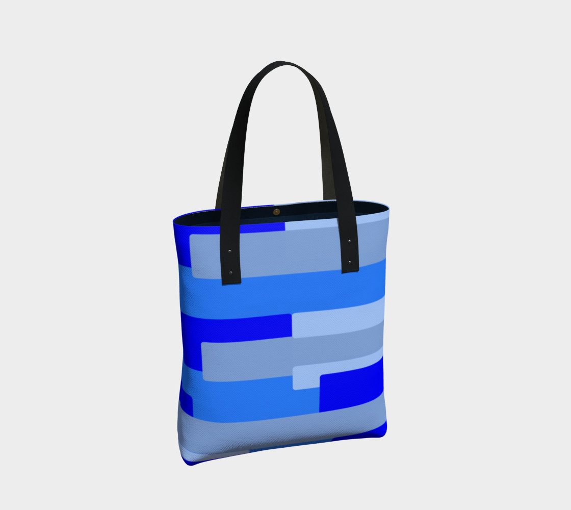 Blue Abstract Tote Bag preview #2