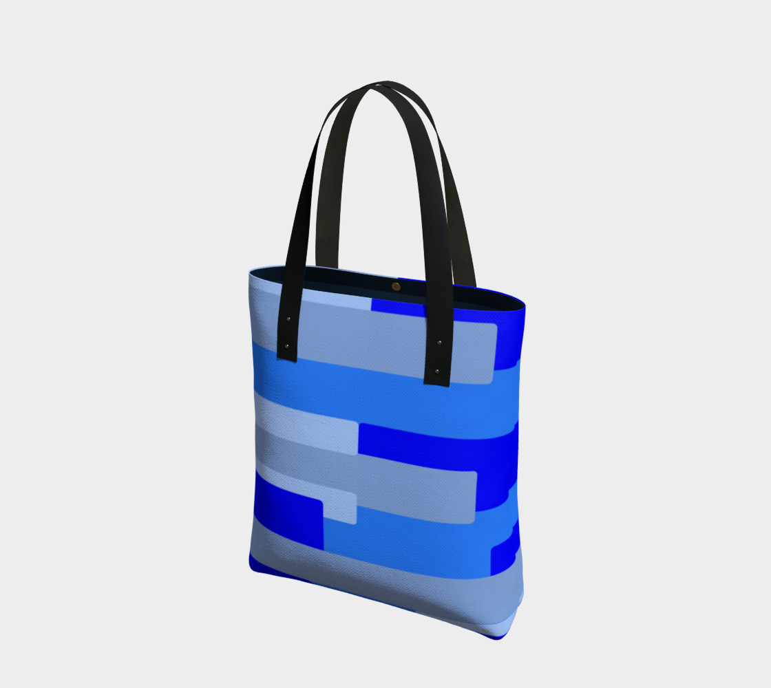 Blue Abstract Tote Bag preview #1