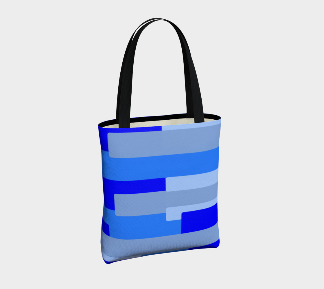 Blue Abstract Tote Bag preview #4