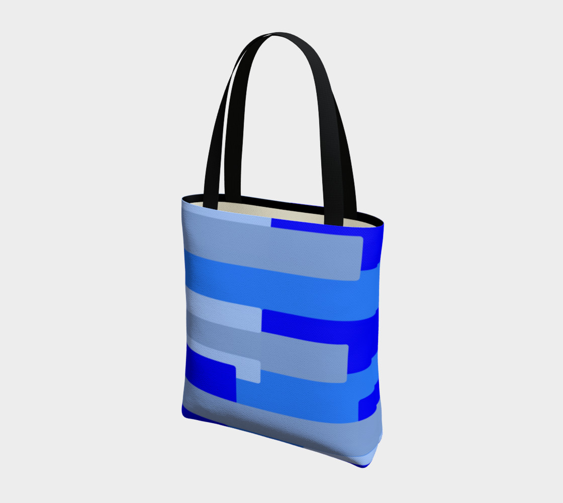 Blue Abstract Tote Bag preview #3