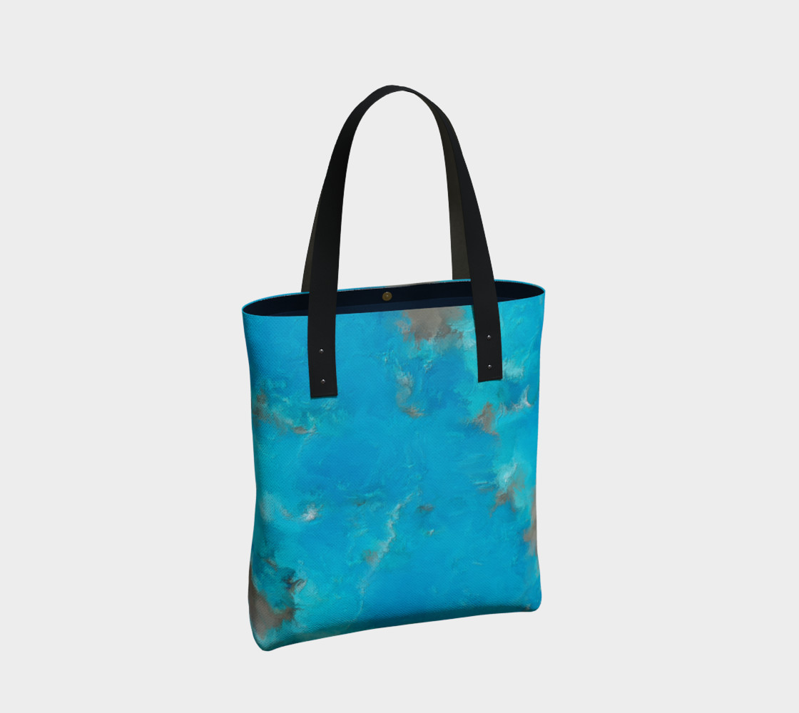 Blue Turquoise Tote Bag preview #2